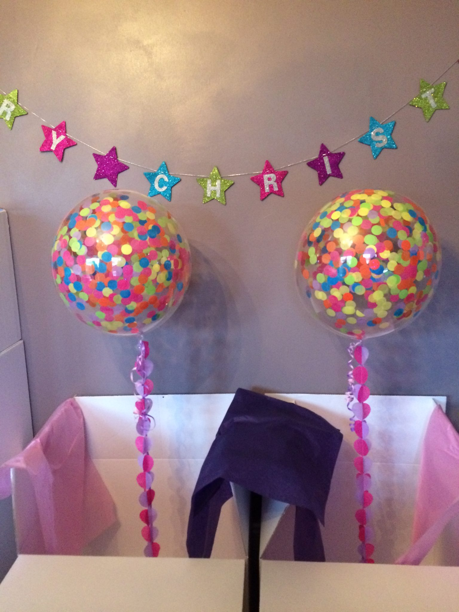 confetti balloons multi coloured