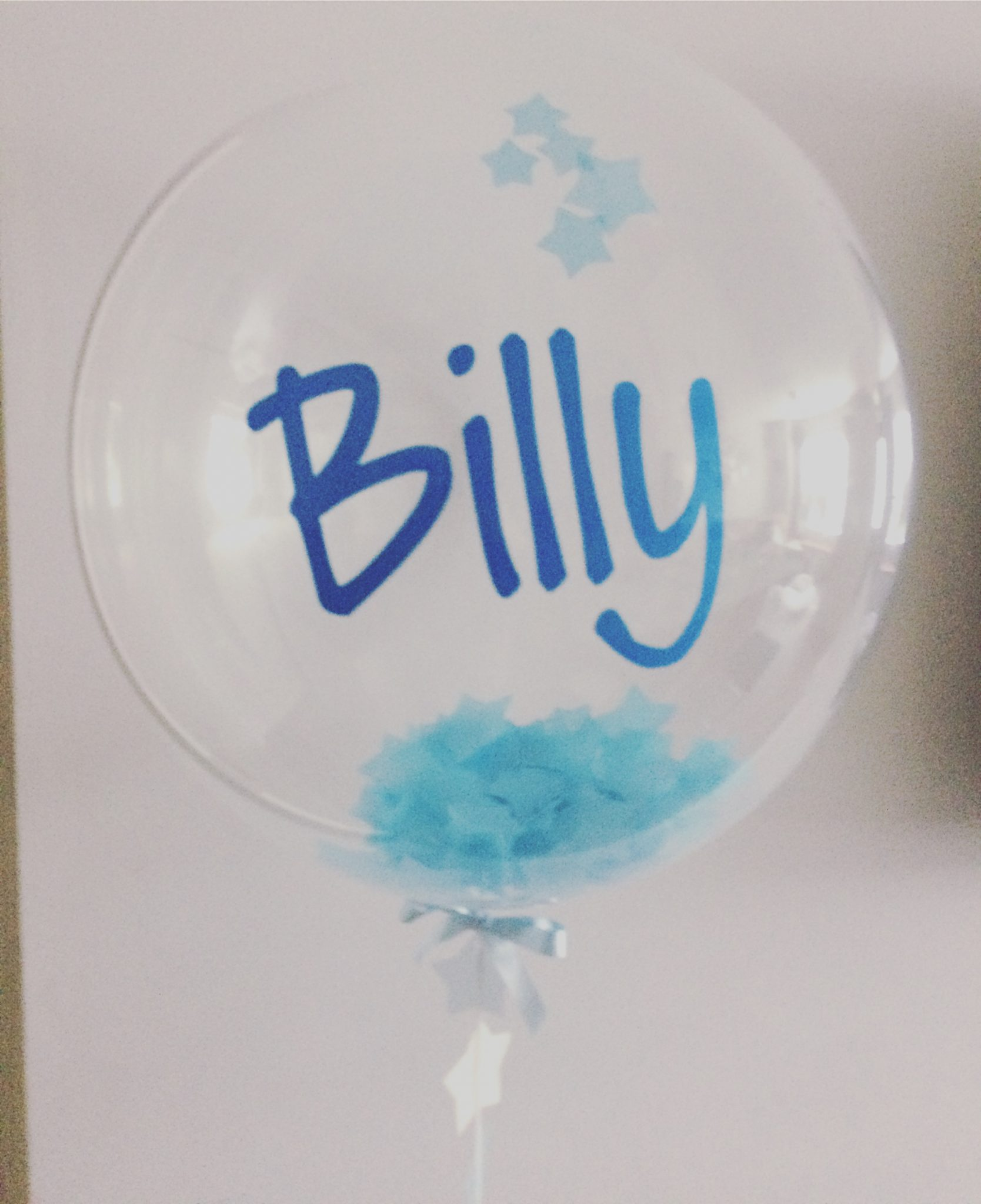 bubble balloon with customized text