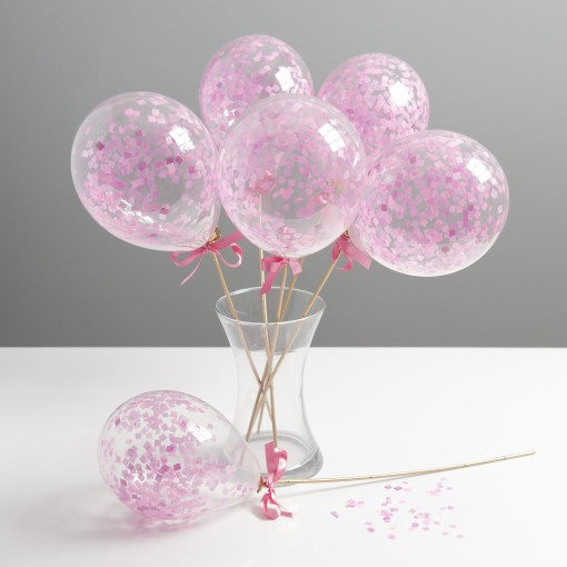 pink mini balloon wands