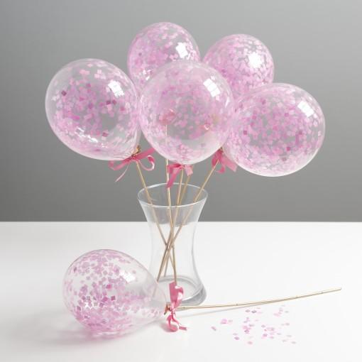 pink mini balloon wands