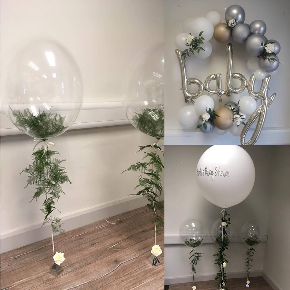 fern balloon bubbles hoop cluster and 3ft greenery balloon