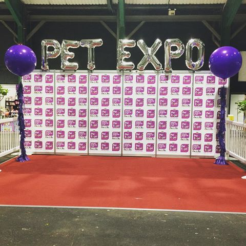 Pet Expo balloons.