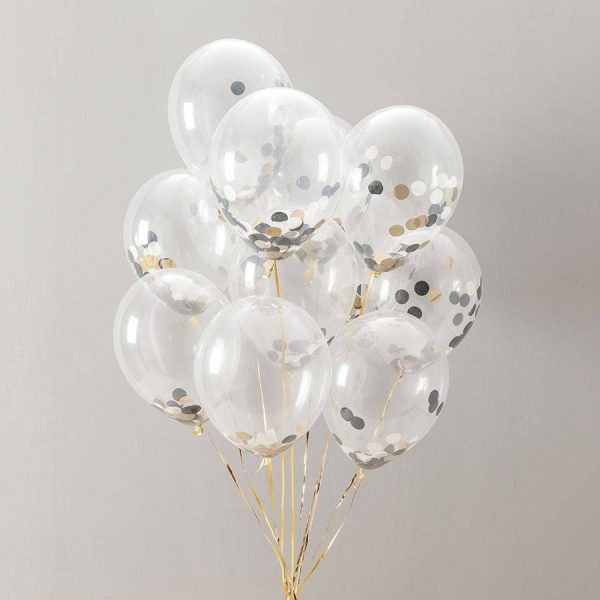 11 inch glitz and glam confetti filled balloons