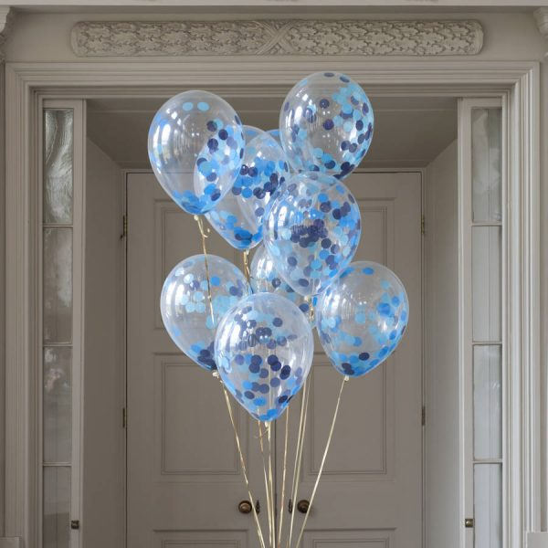 11 inch party boy confetti filled balloons