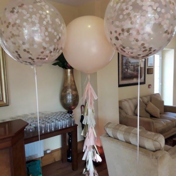 blush giant wedding balloon