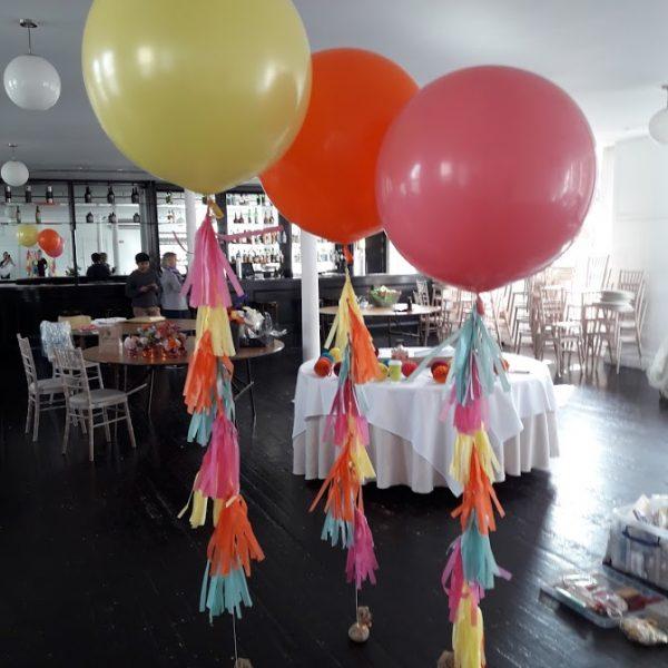 3ft tassel tail coloured balloons