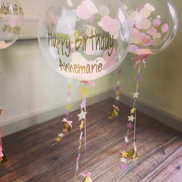 personalised confetti bubble balloon happy birthday