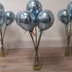 mini balloon wands blue