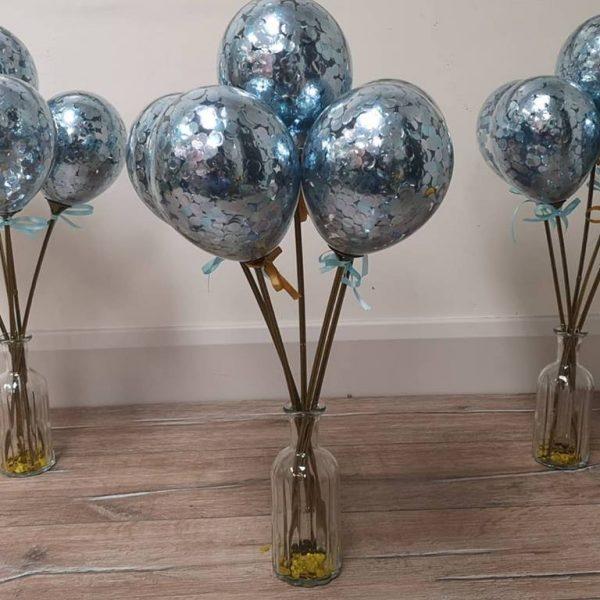 mini balloon wands blue
