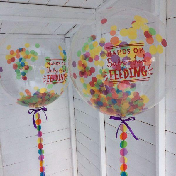 "24"" logoed confetti balloon"