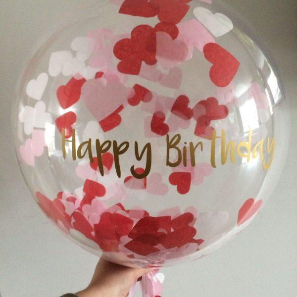 happy birthday bubble balloon love hearts