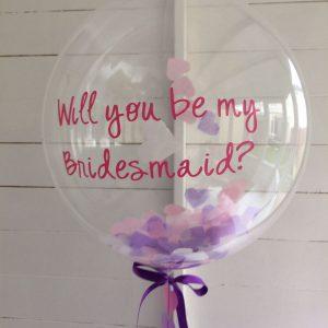 confetti balloons ireland bridesmaid balloons