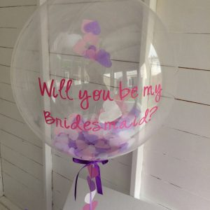 "20"" Confetti balloon with personalisation"