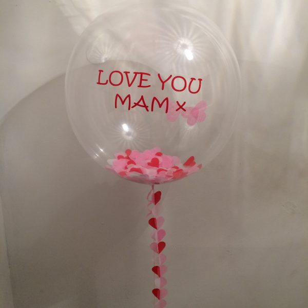 Love you Mam confetti balloon