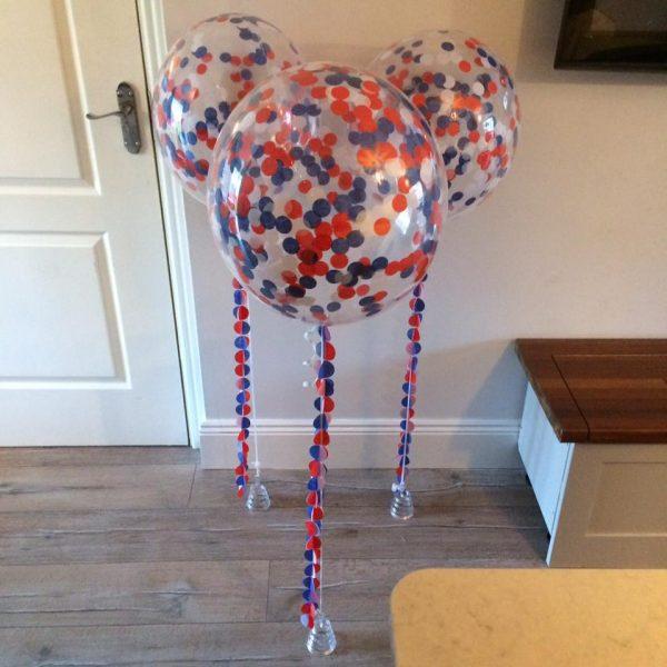 American colours confetti balloons