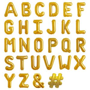 giant gold balloon letters 34 inch dublin