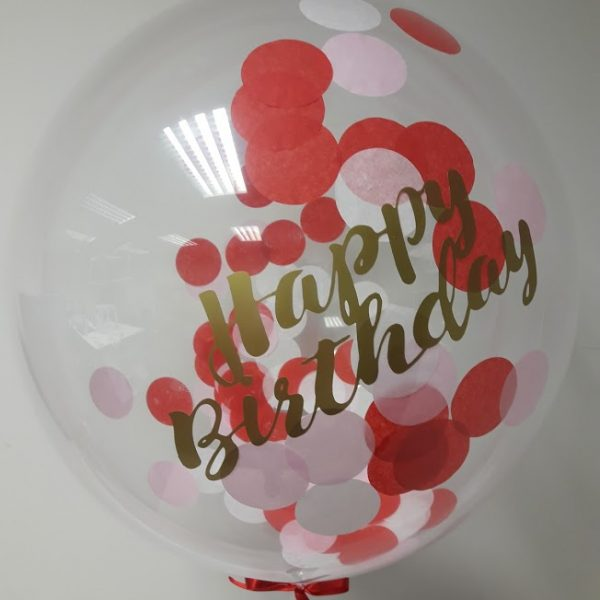 personalised confetti bubble balloon happy birthday balloon