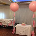 3ft foot pink tassel tail balloon