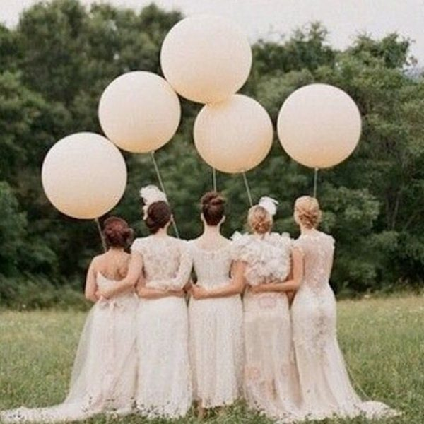 plain 3ft balloon bride and bridesmaid