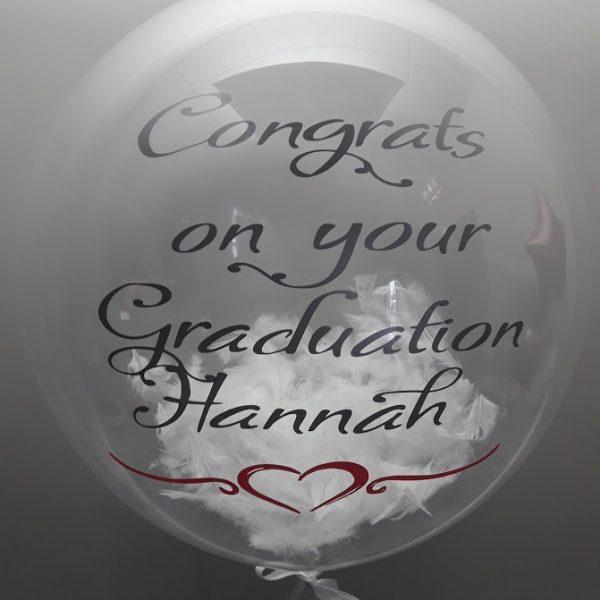 personalised confetti bubble balloon gold