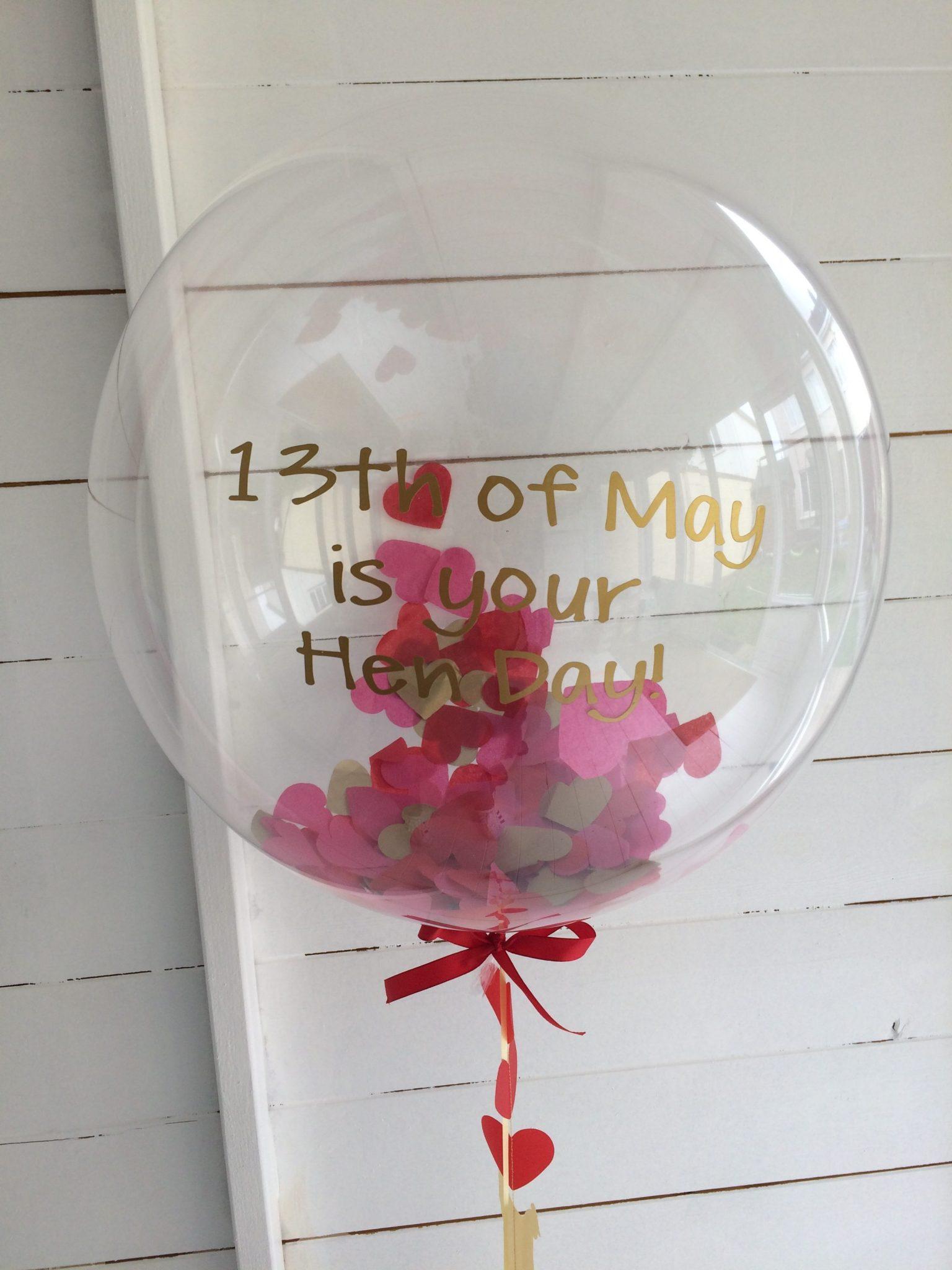 Hen Party Invite Confetti Balloon in Box - Confetti Balloons