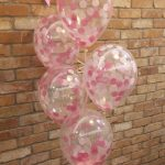 pink confetti latex balloons