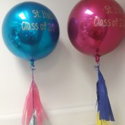 "16"" orbz balloons with custom text"