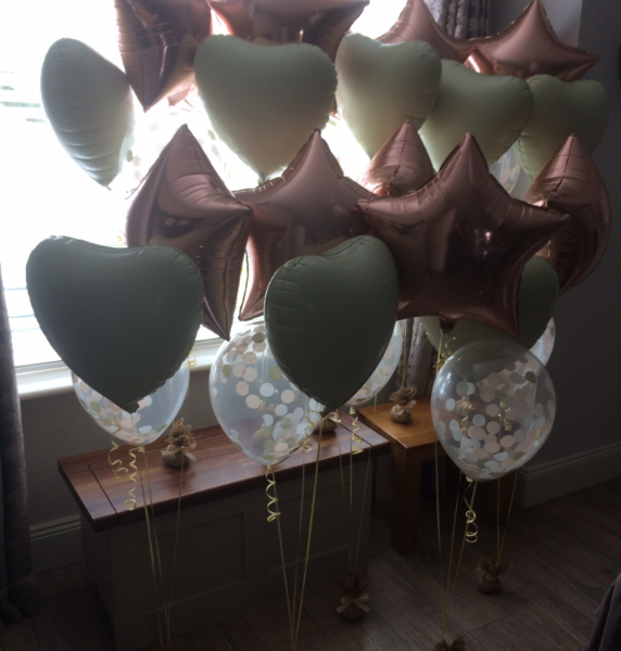 6 Foil Balloon Bunches