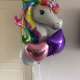 Unicorn Helium Balloon and 3 Foil Balloon Bundle image