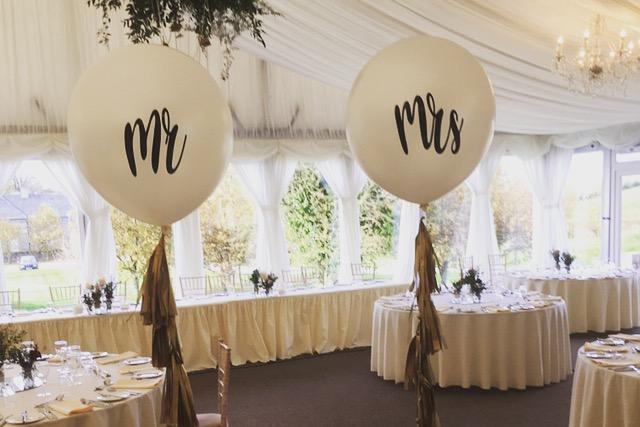 mr and mrs giant helium wedding balloons