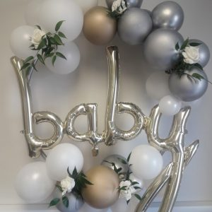 balloon hoop clusters white gold baby 2