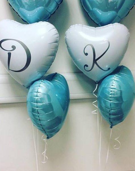 blue foil balloon bunch