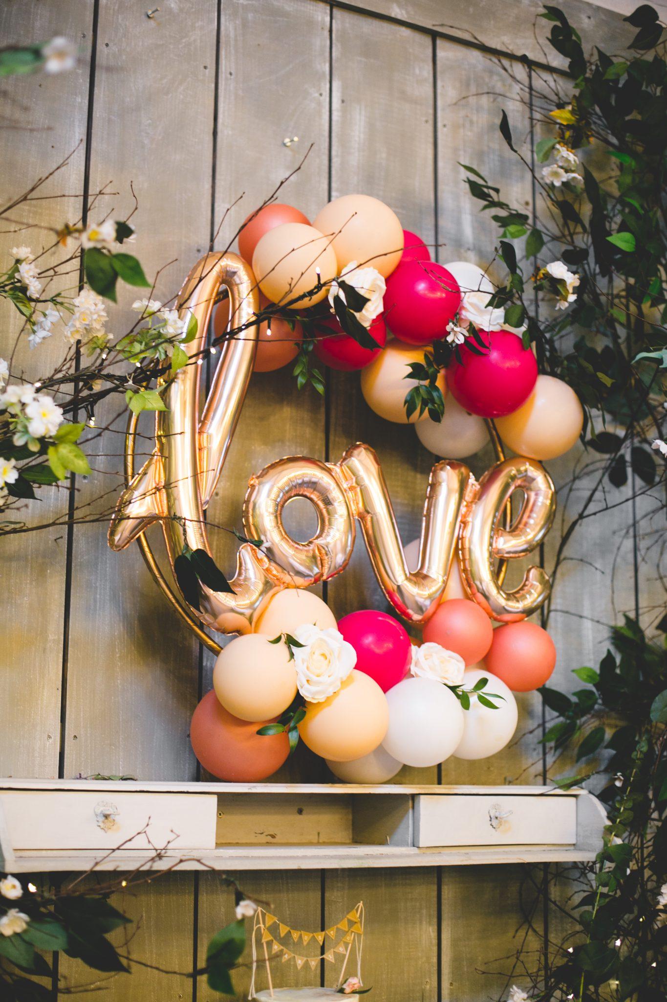 love wedding balloon hoop
