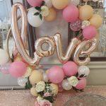 love balloon hoop cluster