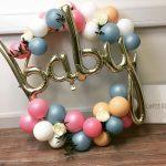 balloon hoop cluster with baby balloon insert