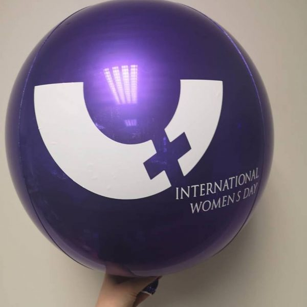orbz balloon with logo applied