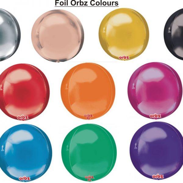 orbz balloon colours