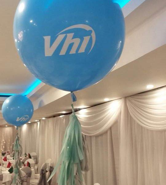giant balloon with company logo