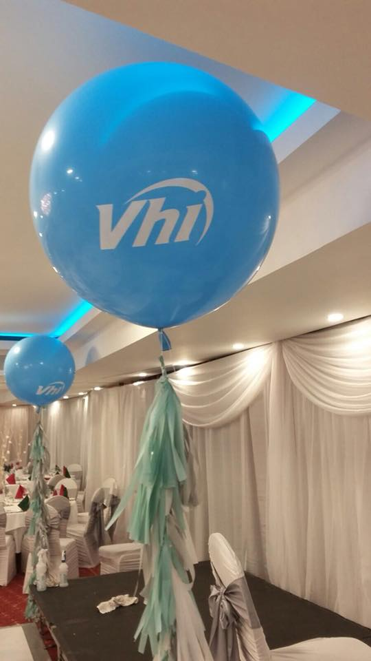 Giant coloured balloon with your logo