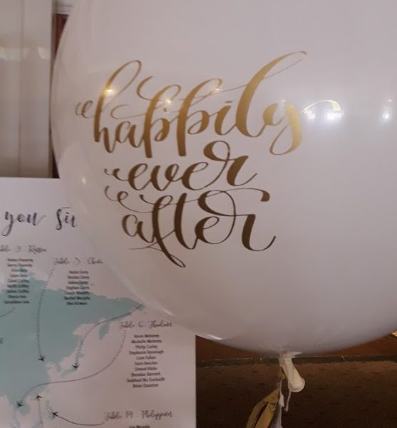 happily ever after wedding balloon close up