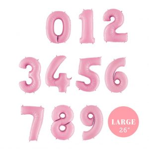 "26"" Balloon Numbers pastel pink"