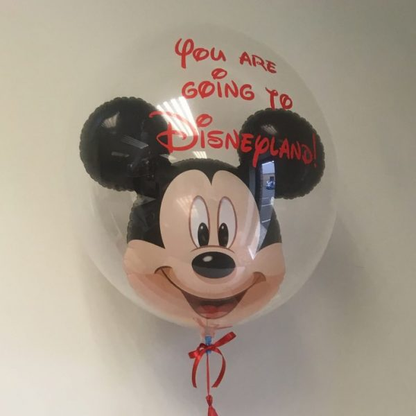 micky mouse bubble balloon close up