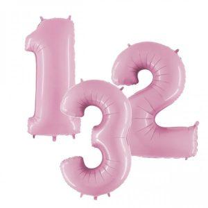 "40"" jumbo balloon numbers pastel pink"