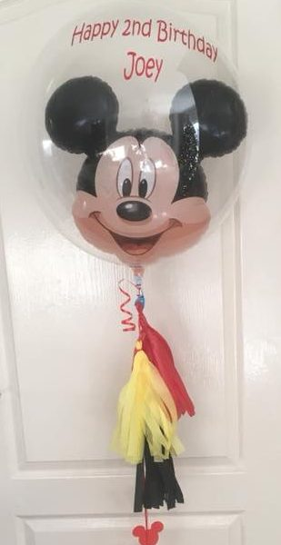 micky mouse bubble balloon with box