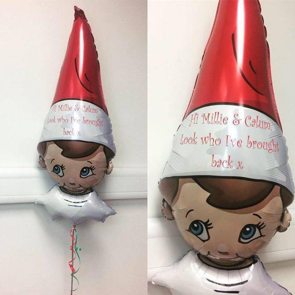 elf on the shelf arrival balloon