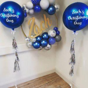 orbz balloon with custom text added