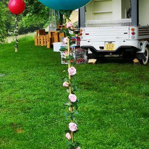 3ft balloon on pole outdoors