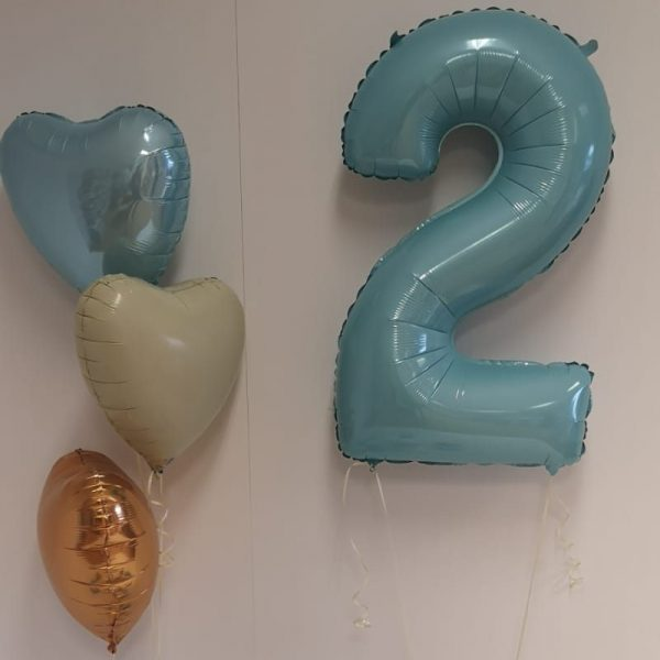 baby blue balloon package