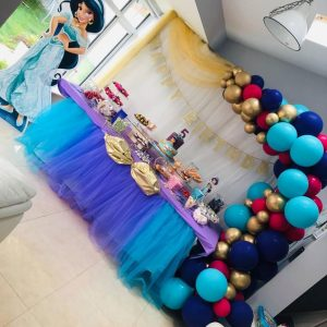 half balloon arch princess colours
