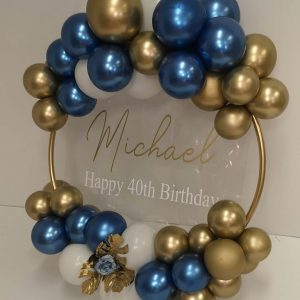 michael 40th balloon hoop